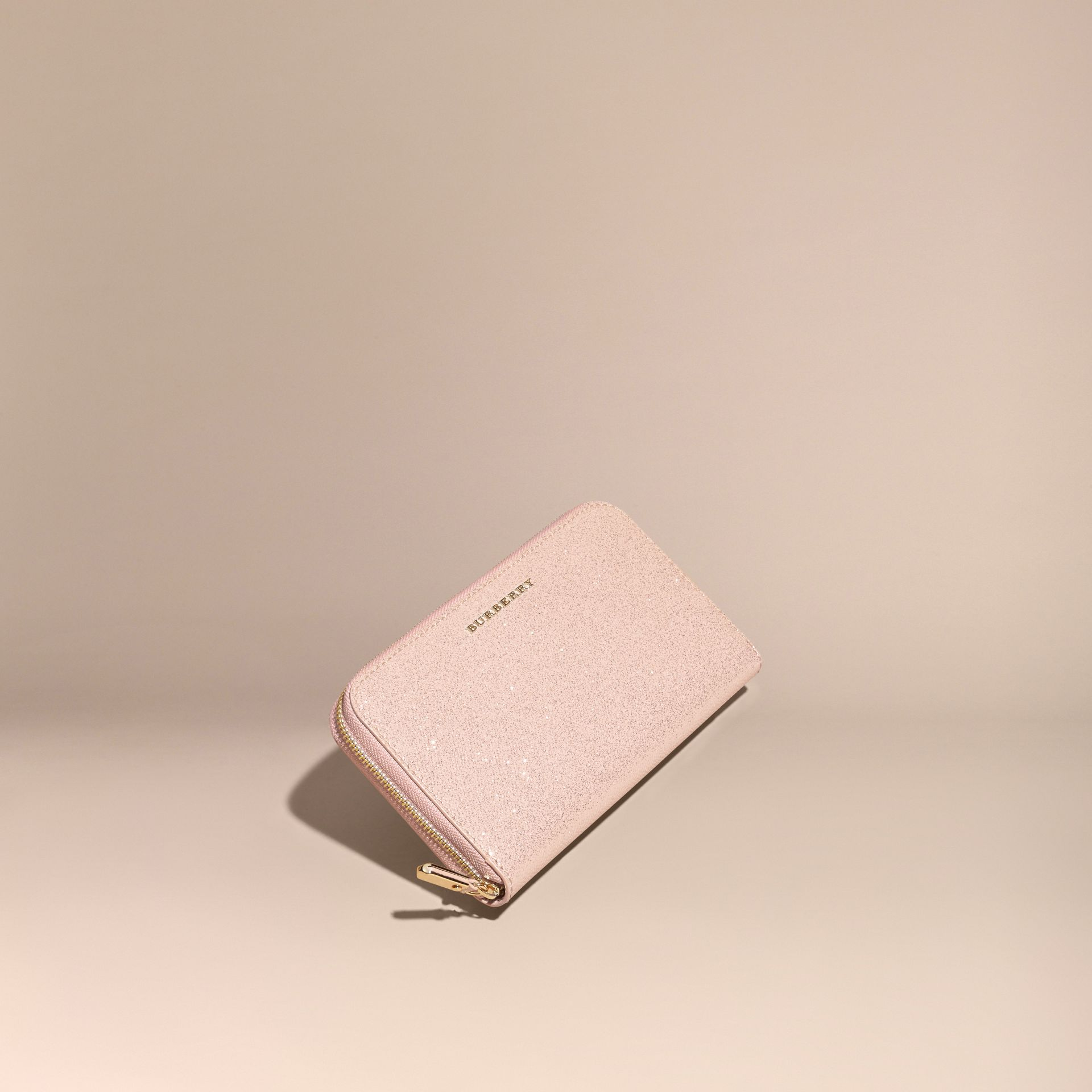 Glitter Patent London Leather Ziparound Wallet in Pale Orchid - gallery image 1
