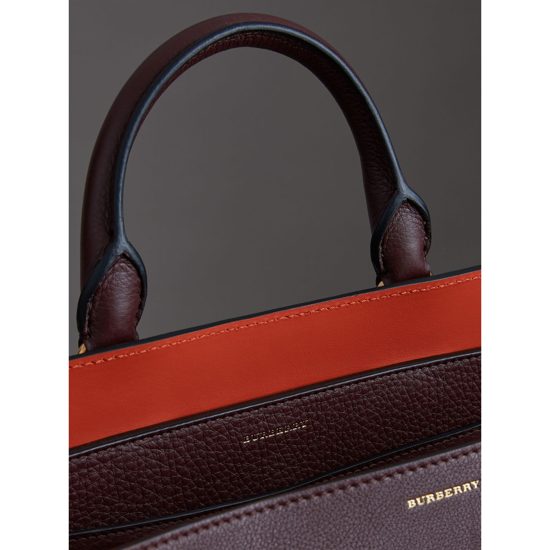 The Medium Leather Belt Bag in Deep Claret - Women | Burberry - gallery image 5