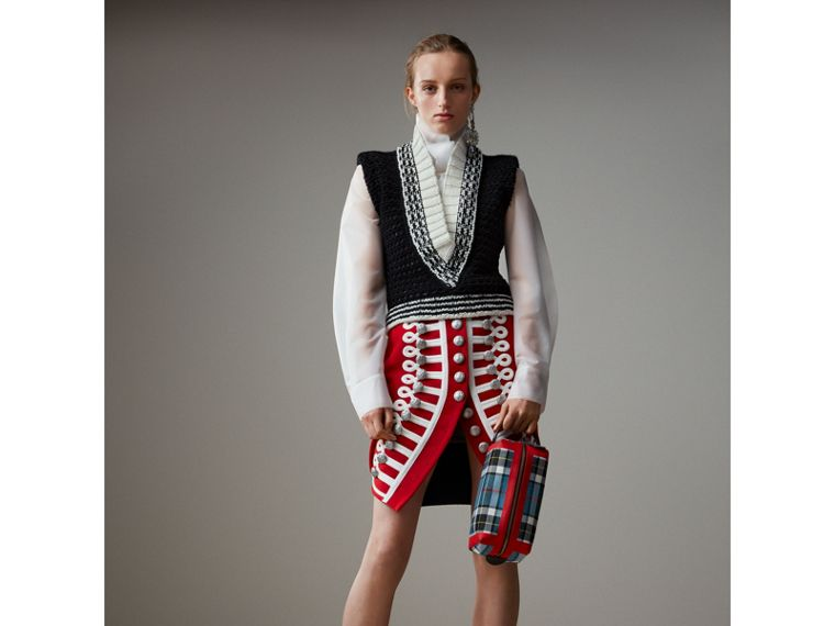 Wool Ceremonial Skirt in Military Red - Women | Burberry - cell image 4