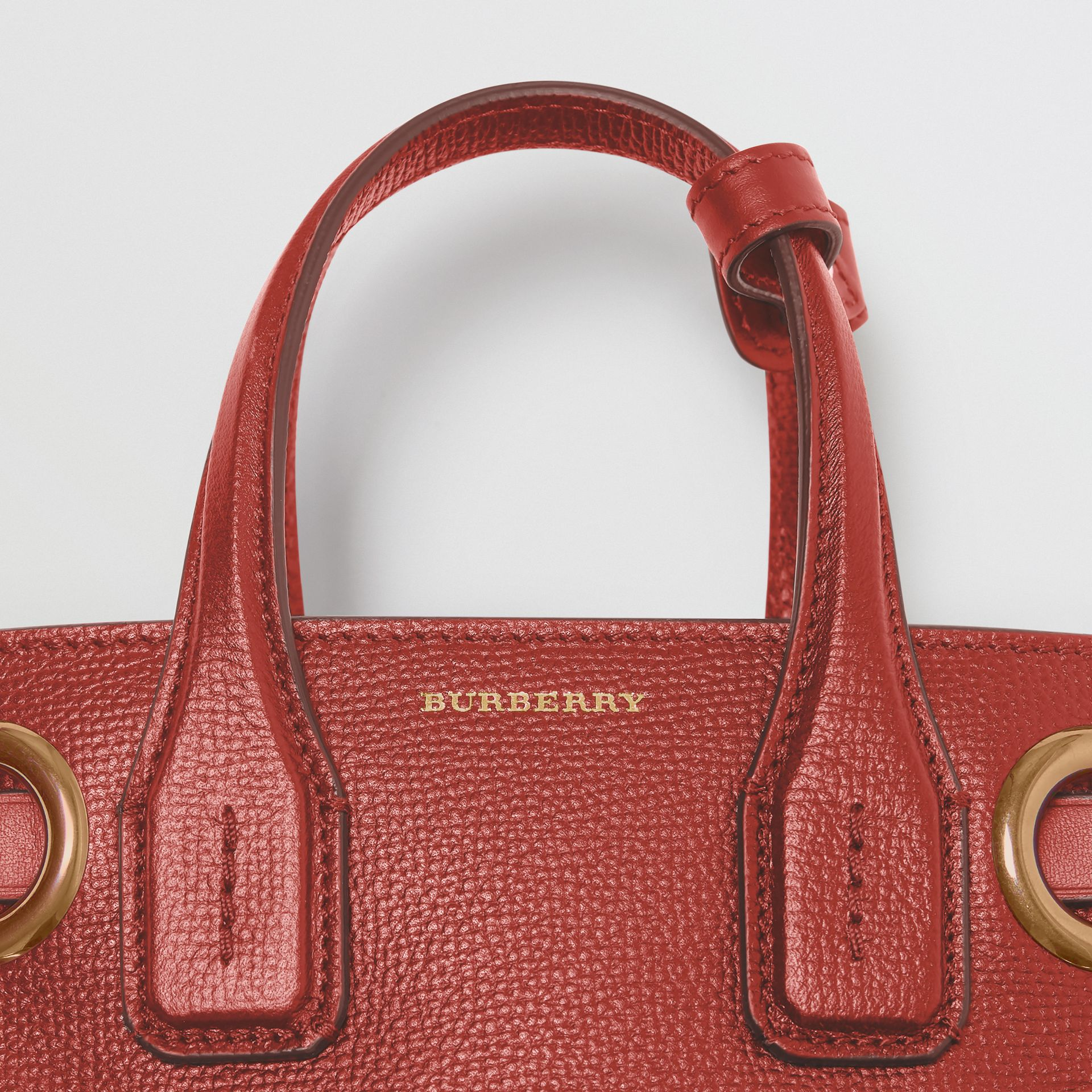 The Baby Banner in Grommeted Leather in Crimson - Women | Burberry - gallery image 1