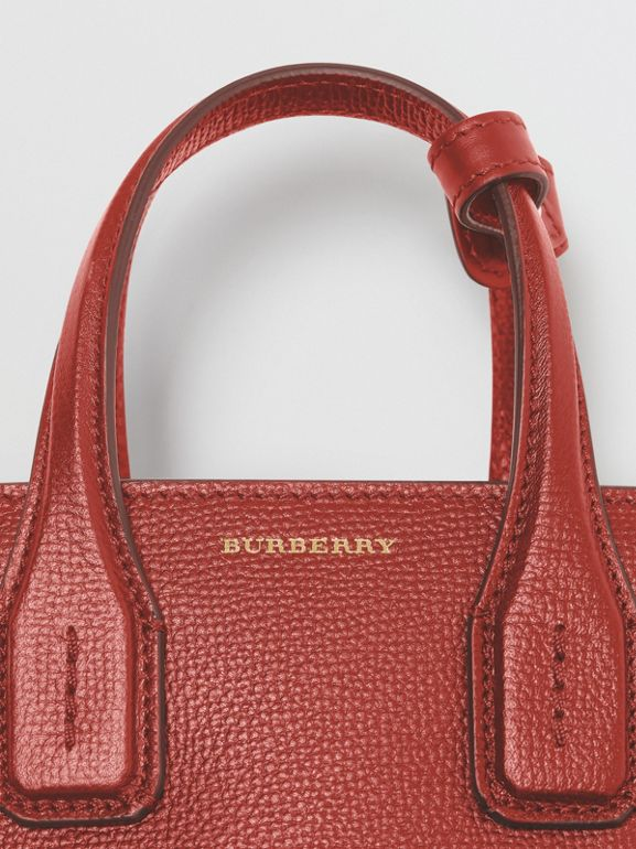 The Baby Banner in Grommeted Leather in Crimson - Women | Burberry - cell image 1