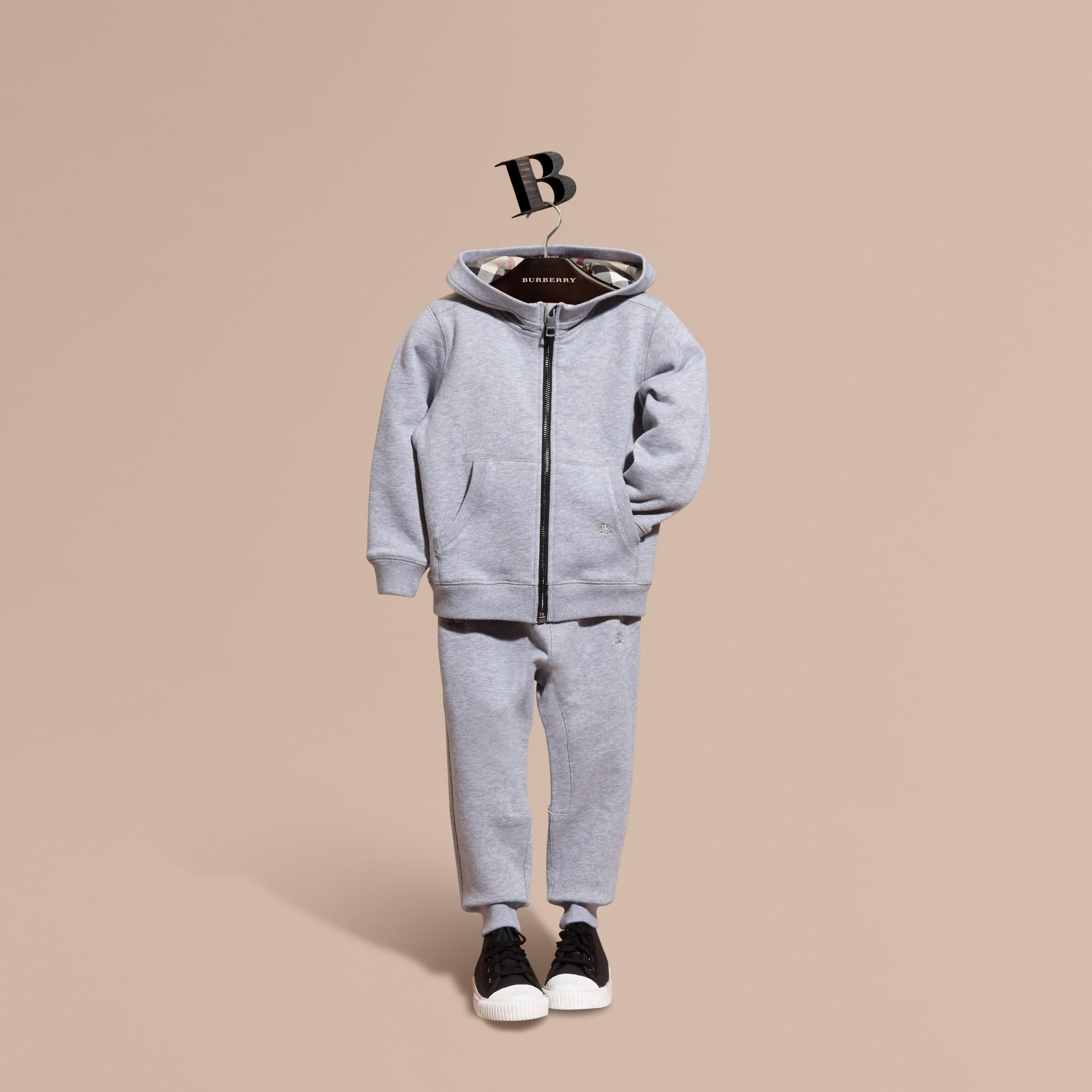 Camaïeu de gris moyens Haut en coton à capuche Camaïeu De Gris Moyens - photo de la galerie 1