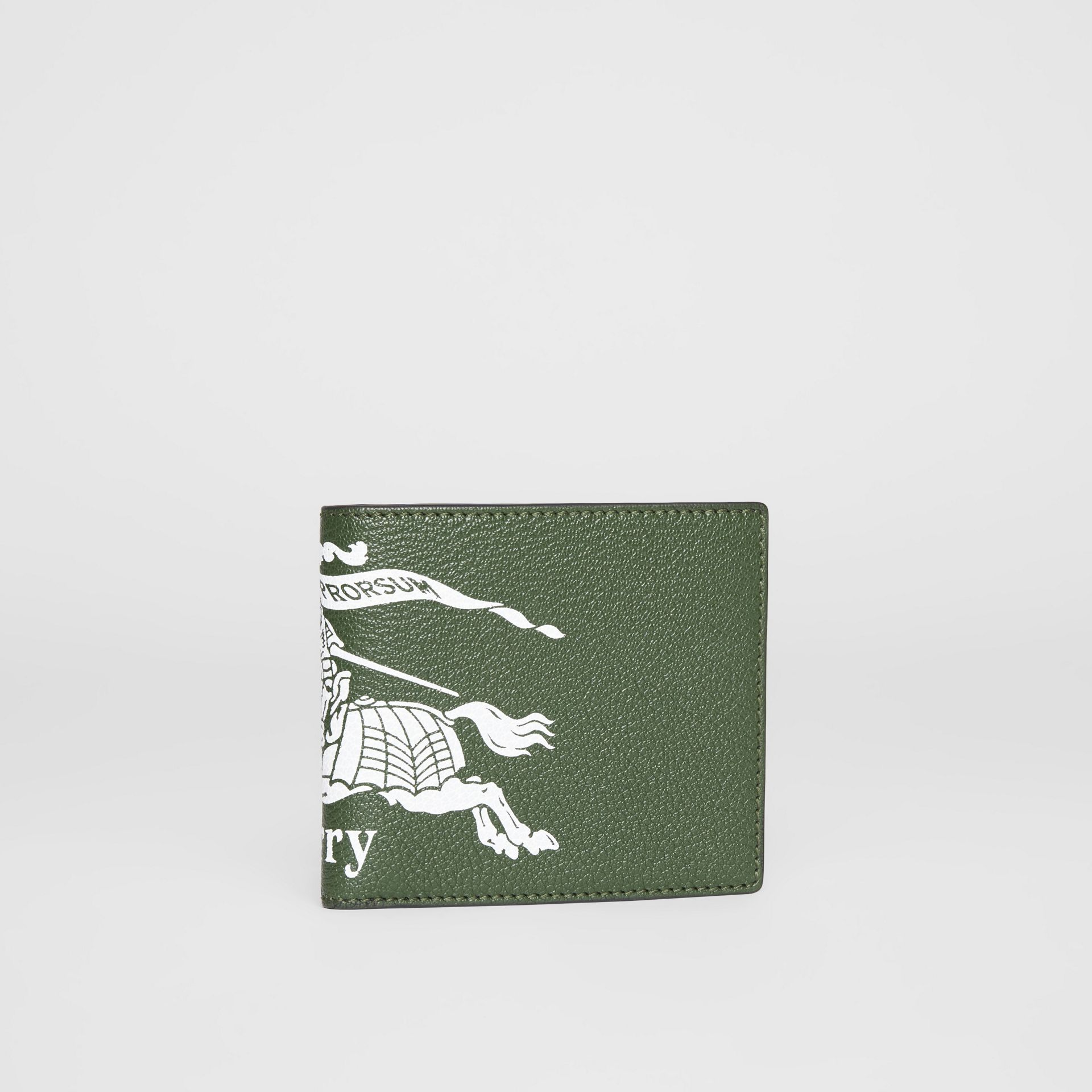 Contrast Logo Leather International Bifold Wallet in Storm Blue - Men | Burberry United Kingdom - gallery image 4