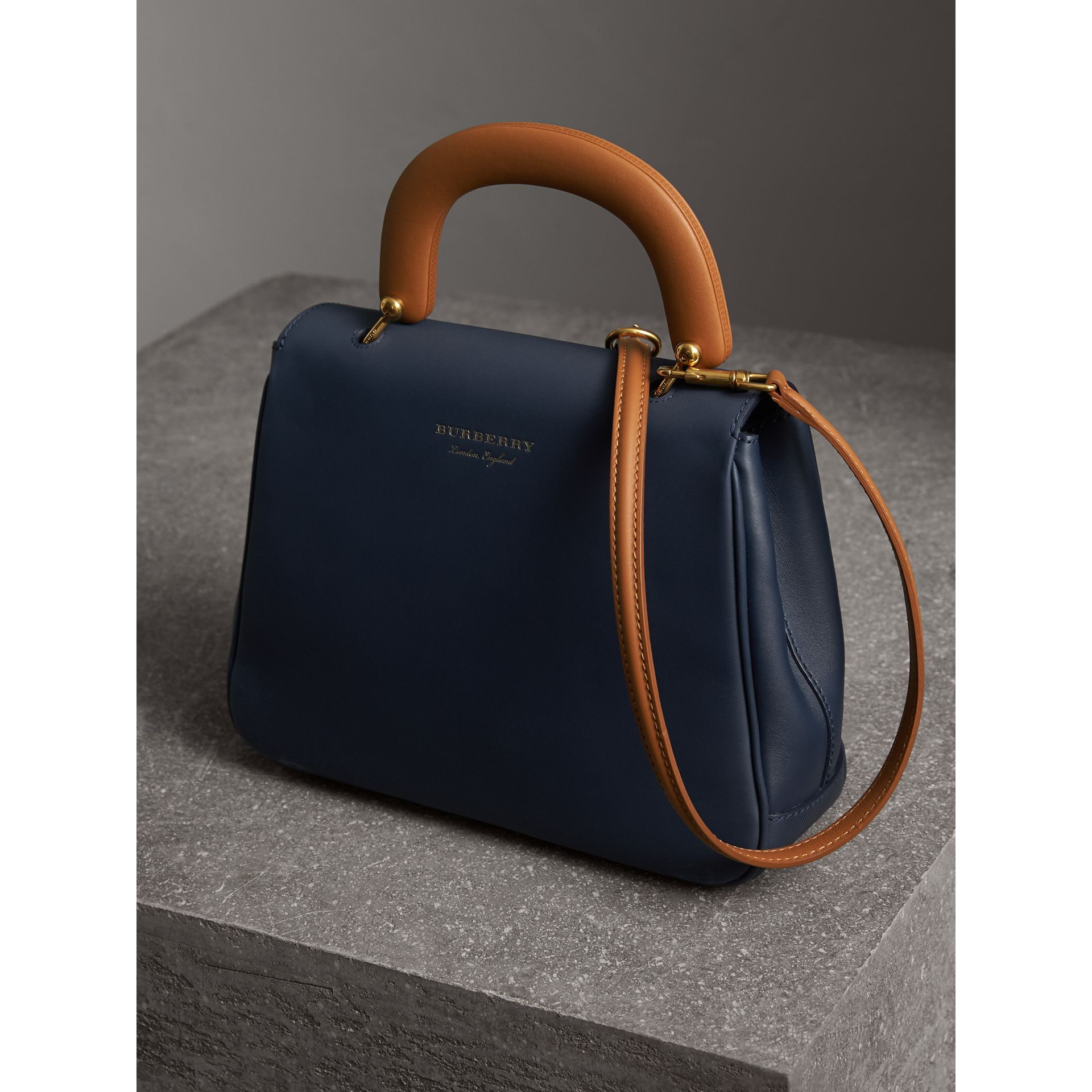 The Medium DK88 Top Handle Bag in Ink Blue - Women | Burberry - gallery image 4