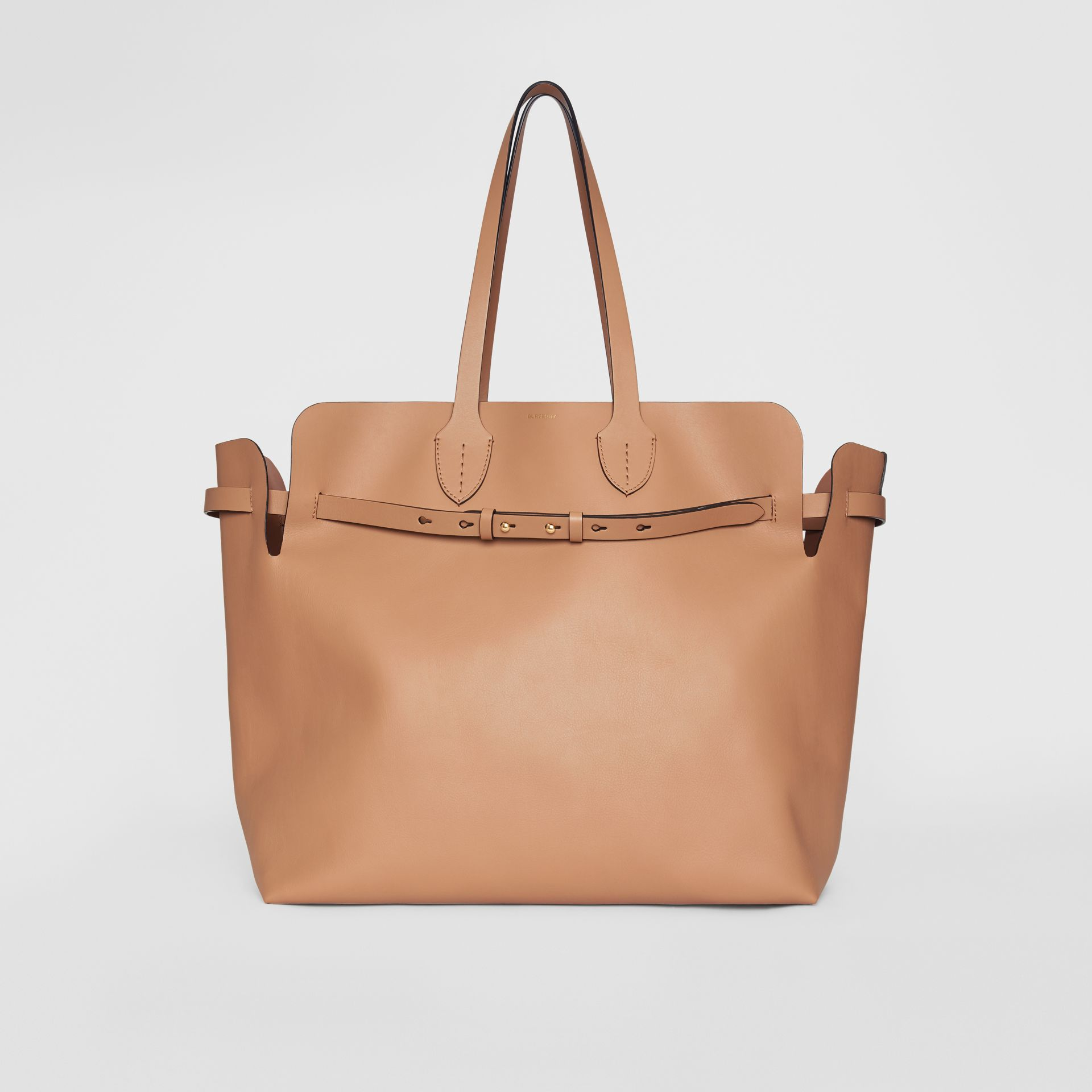 The Large Soft Leather Belt Bag in Light Camel - Women | Burberry United Kingdom - gallery image 0