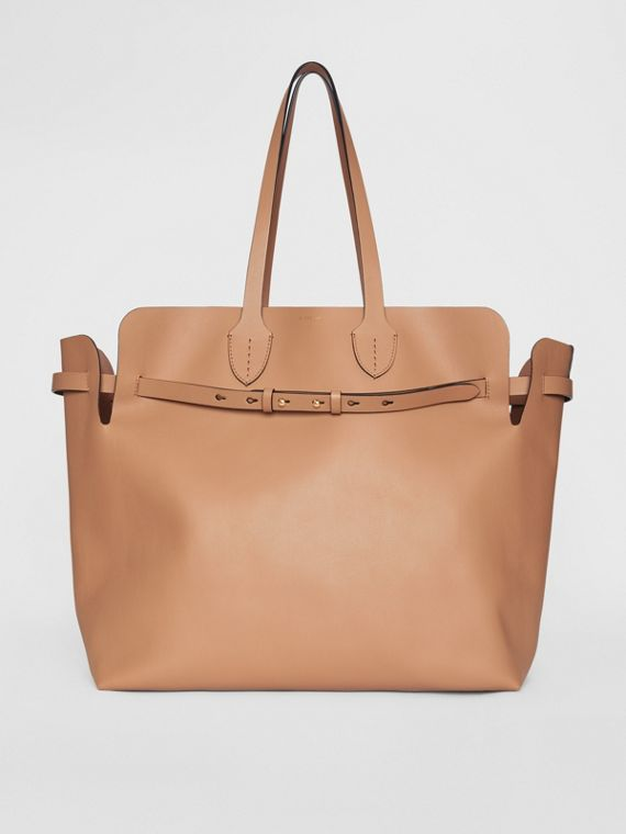 Grand sac The Belt en cuir doux (Camel Clair)