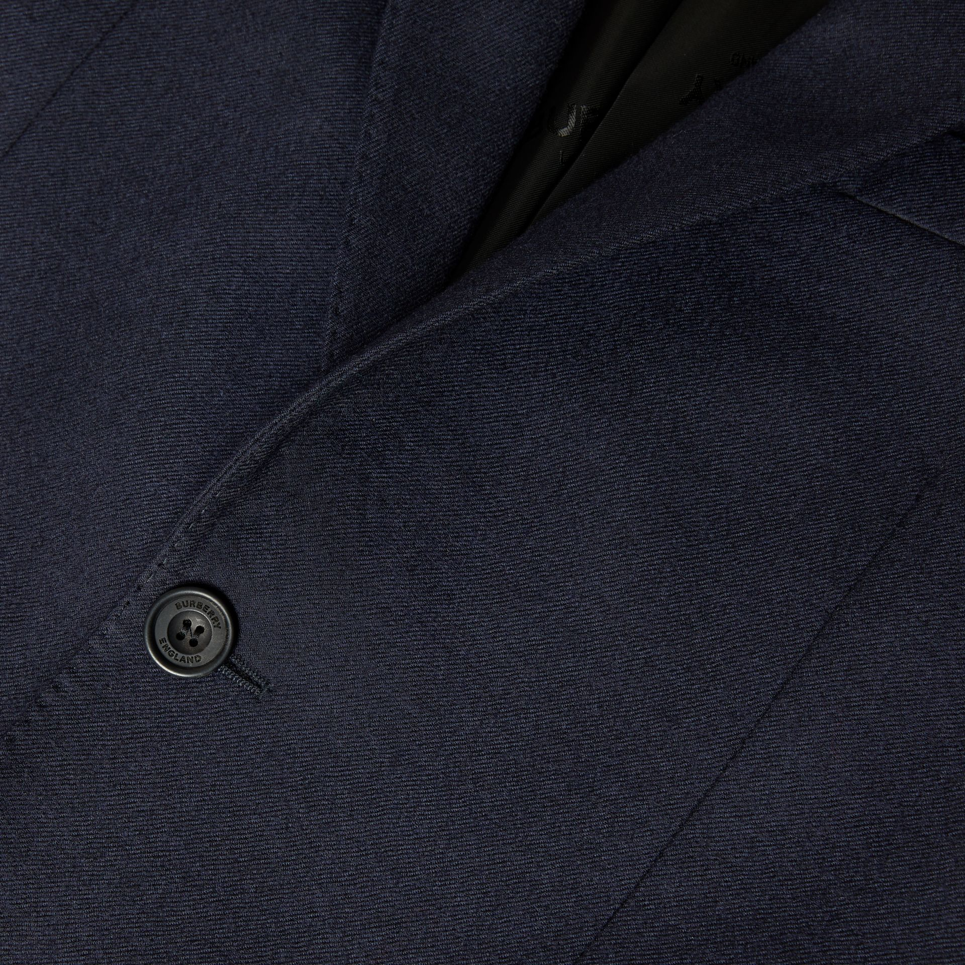 Classic Fit Wool Flannel Tailored Jacket in Navy - Men | Burberry - gallery image 6