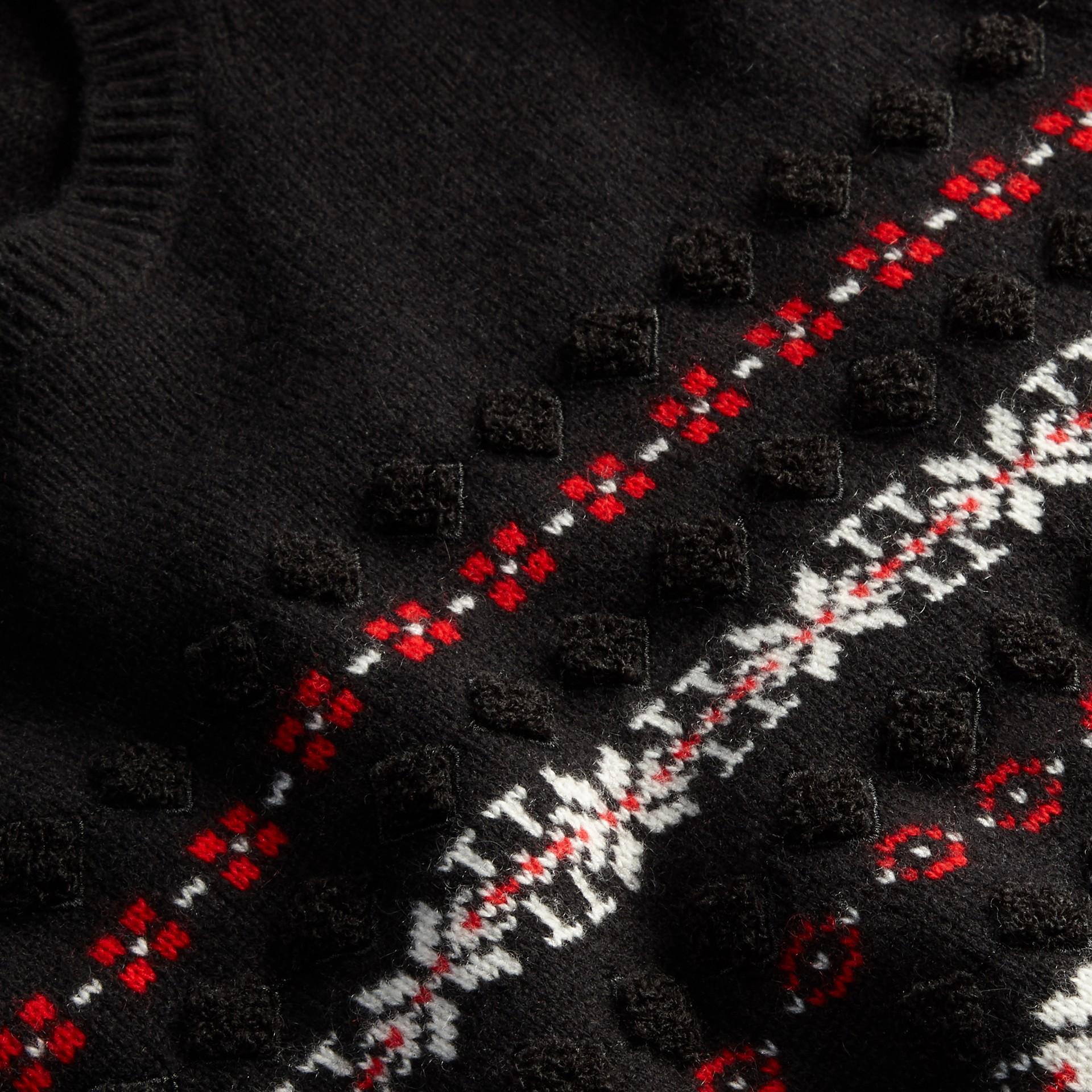 Preto Suéter de lã e cashmere com estampa Fair Isle - galeria de imagens 2