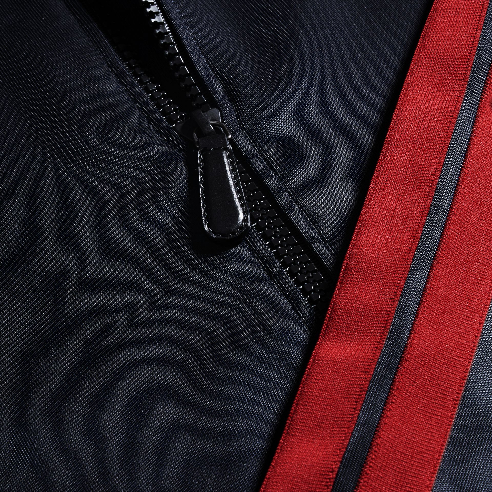 Navy High-shine Technical Track Jacket - gallery image 2