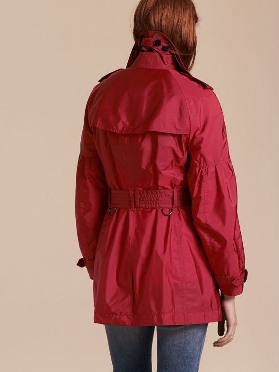 Parade red Packaway Trench Coat with Puff Sleeves - cell image 2