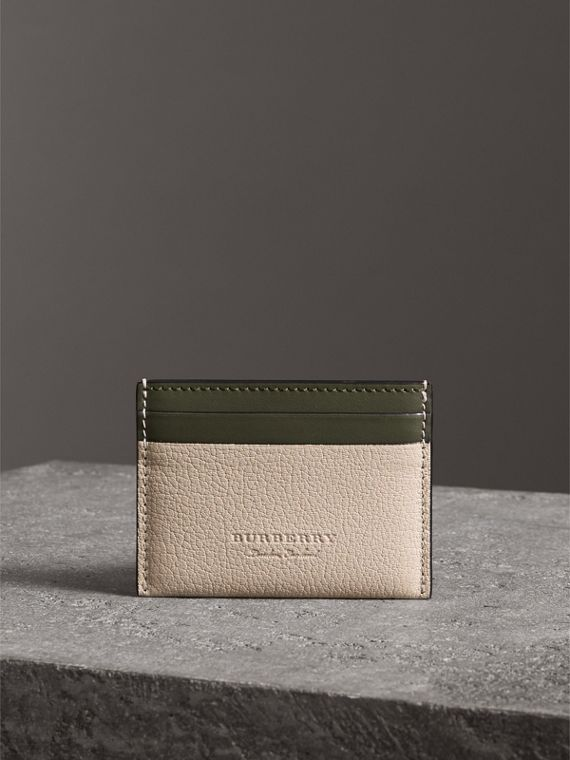 Two-tone Leather Card Case in Stone - Women | Burberry United Kingdom - cell image 2
