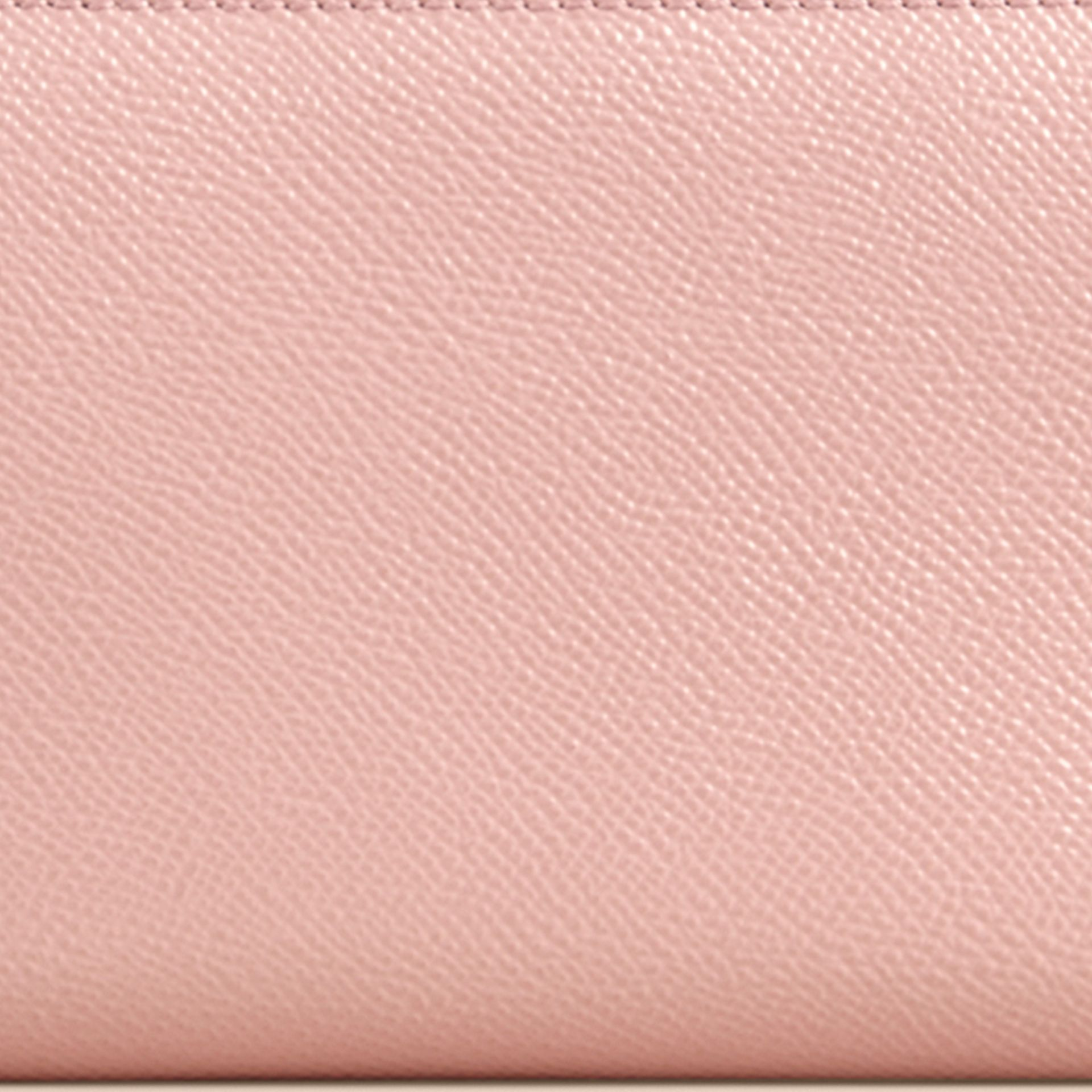 Patent London Leather Ziparound Wallet in Ash Rose - gallery image 2