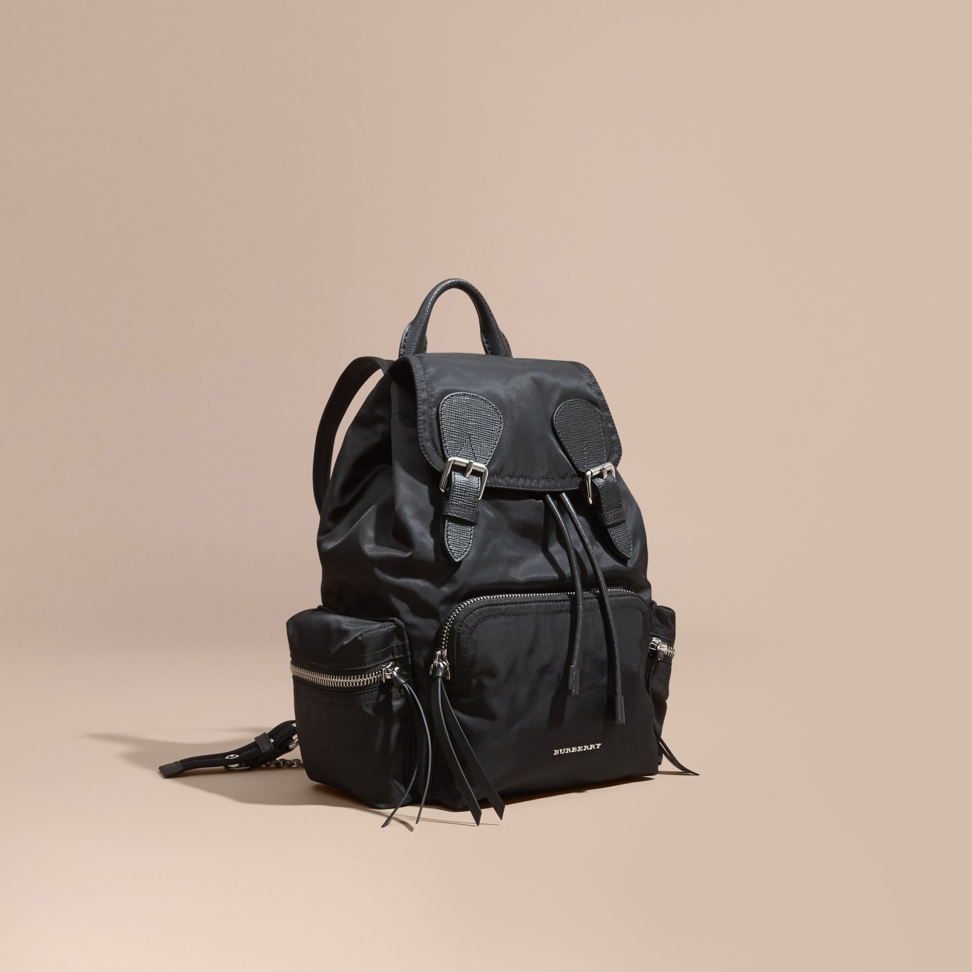 The Medium Rucksack in Nylon and Leather - gallery image 1