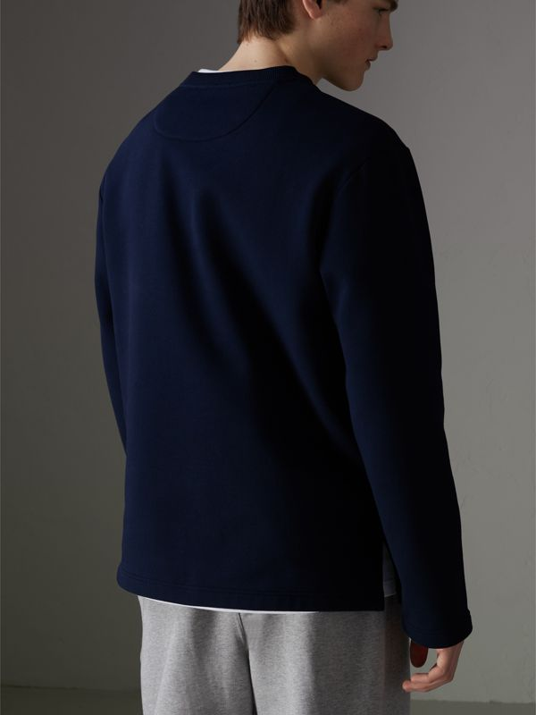 Reissued Jersey Sweatshirt in Dark Blue - Men | Burberry United Kingdom - cell image 2