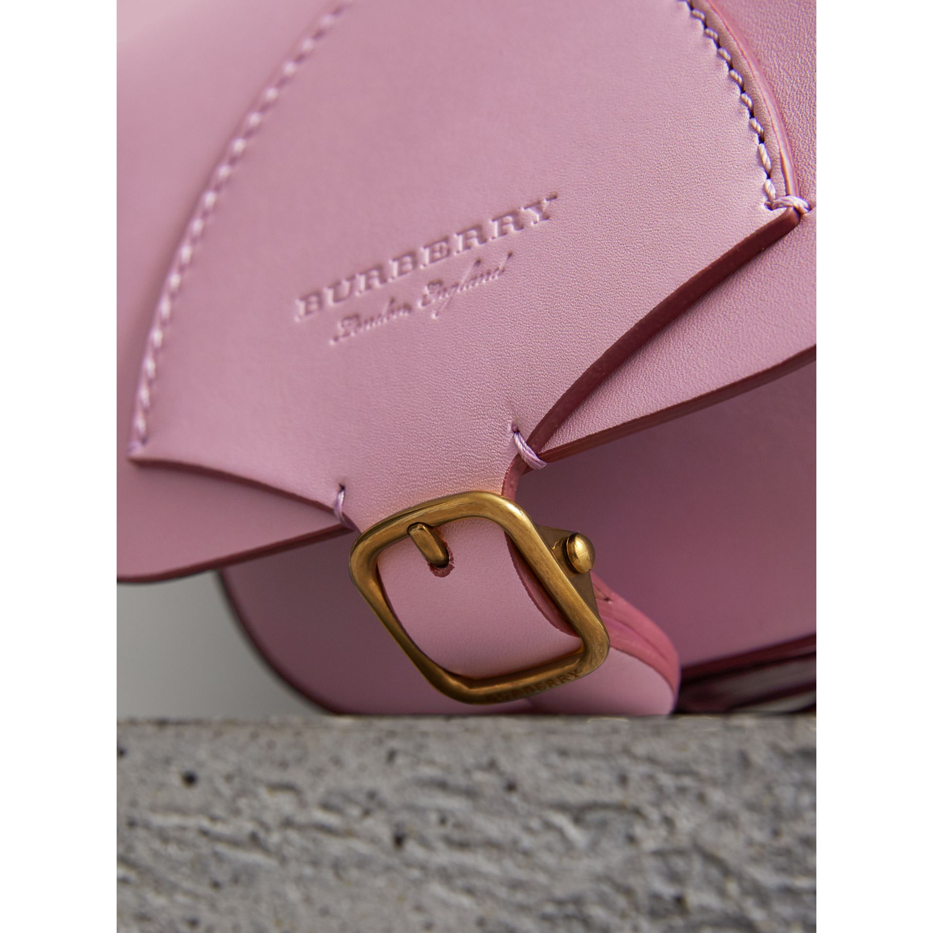 The Satchel in pelle (Lavanda Pallido) - Donna | Burberry - immagine della galleria 1