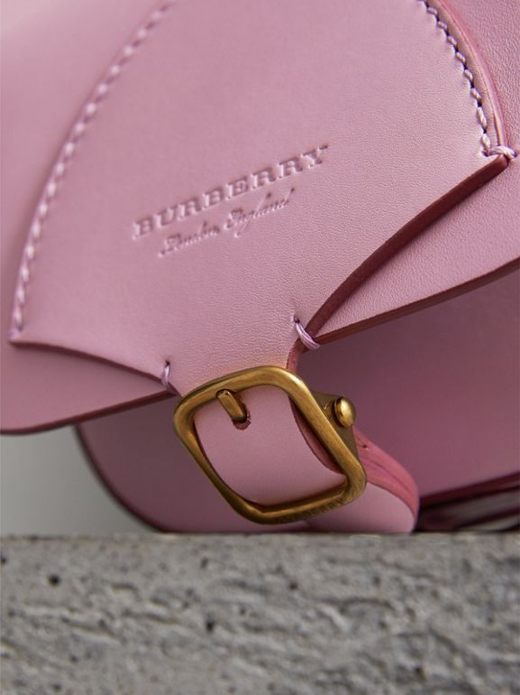 The Satchel in Leather in Pale Lavender - Women | Burberry United Kingdom - cell image 1