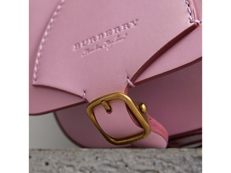 The Satchel in Leather in Pale Lavender - Women | Burberry Australia - cell image 1
