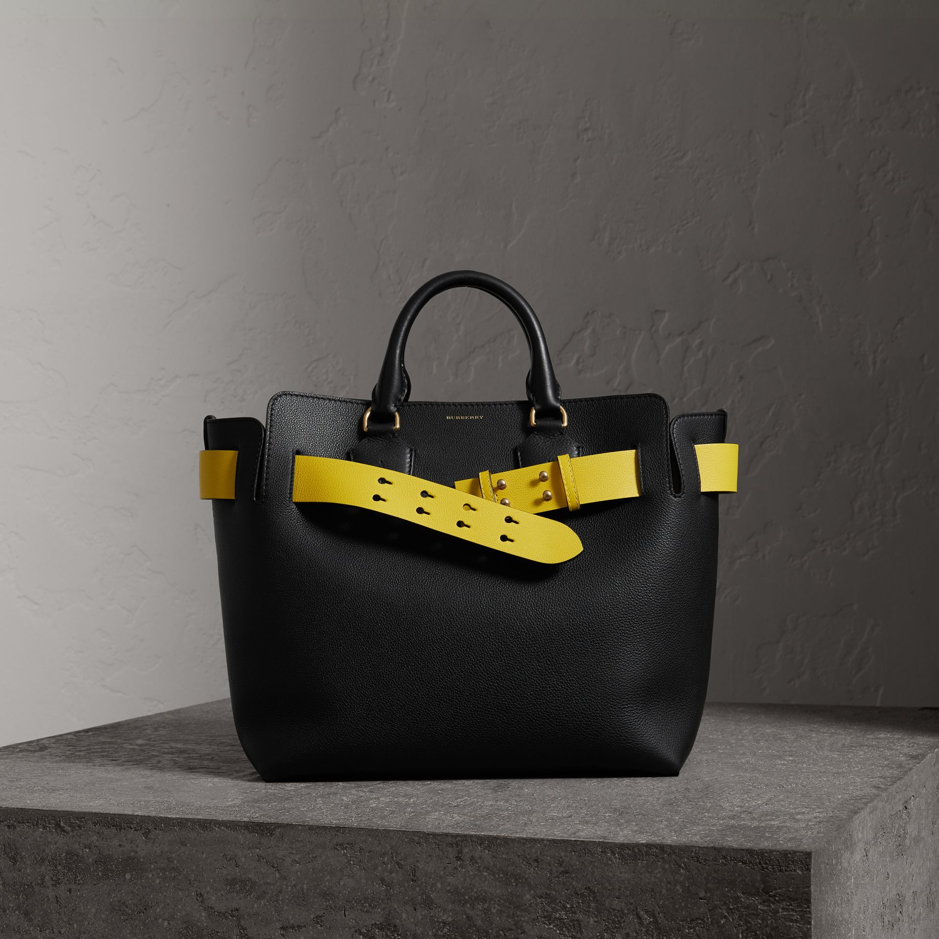 The Medium Leather Belt Bag in Black - Women | Burberry United States - gallery image 0