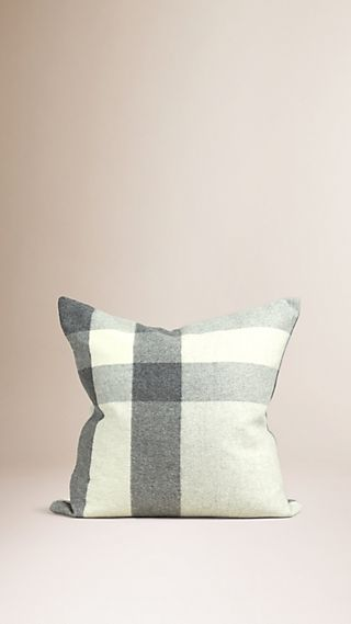 Check Cashmere Cushion Cover