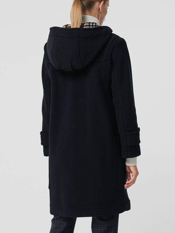 Wool Blend Oversized Duffle Coat in Navy - Women | Burberry United States - cell image 2