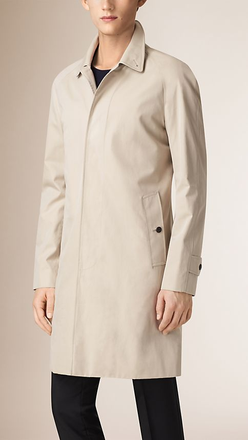 Trench Cotton Gabardine Car Coat - Image 2