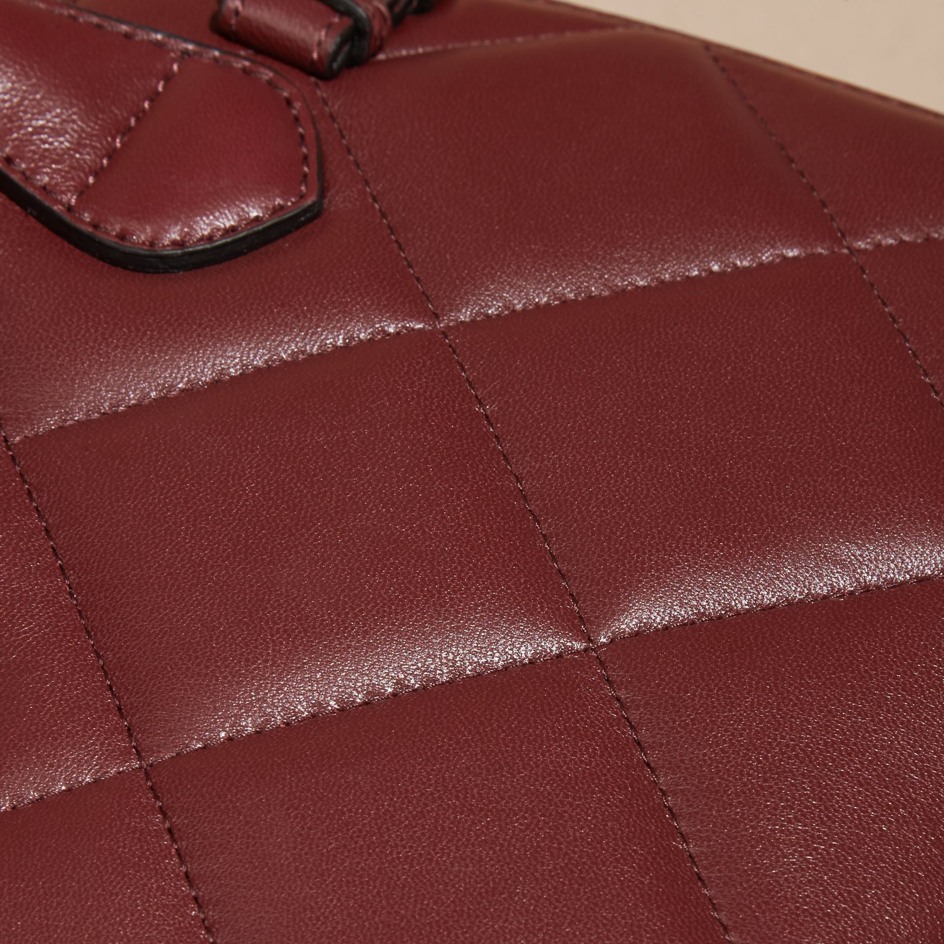 Dark damson The Baby Banner in Quilted Lambskin Dark Damson - gallery image 2