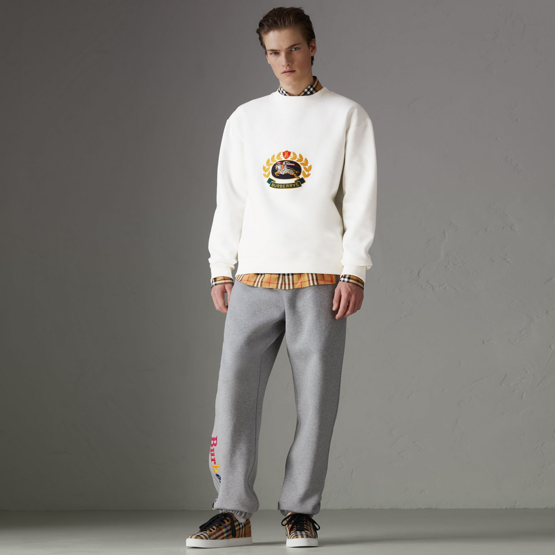 Reissued Jersey Sweatshirt in Off White - Men | Burberry - gallery image 5