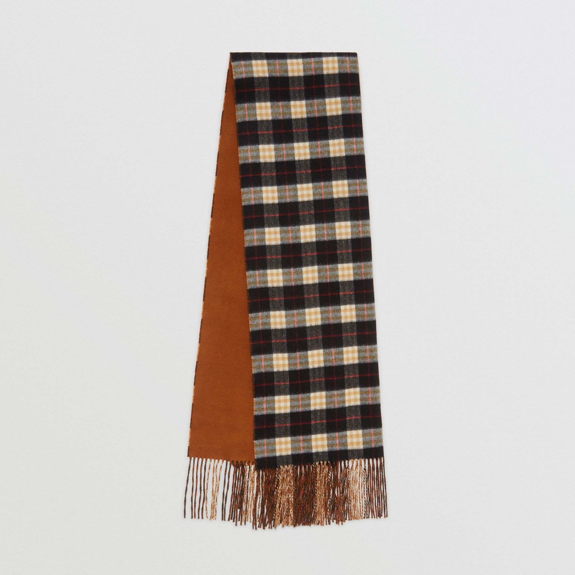 Colour Block Vintage Check Cashmere Scarf in Toffee | Burberry - gallery image 0