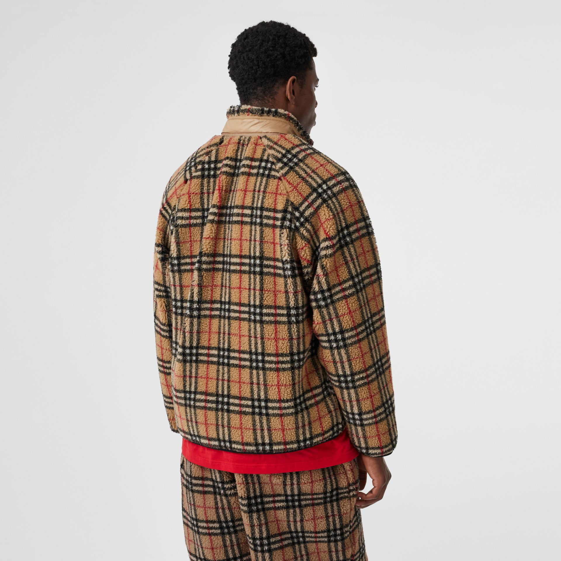 Vintage Check Faux Shearling Jacket in Archive Beige - Men | Burberry United Kingdom - gallery image 2