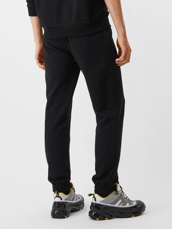 Monogram Motif Cotton Trackpants in Black - Men | Burberry - cell image 2