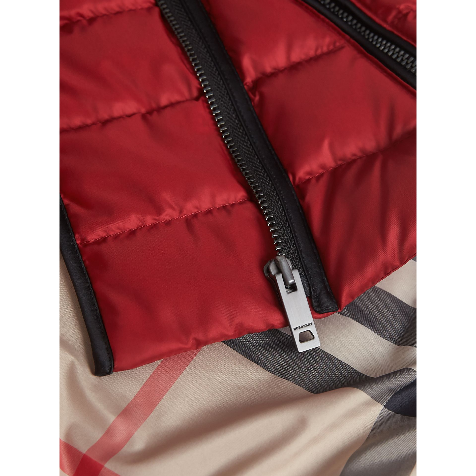 Down-filled Quilted Jacket in Crimson Red | Burberry - gallery image 2