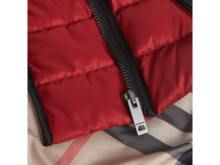 Down-filled Quilted Jacket in Crimson Red | Burberry Singapore - cell image 1