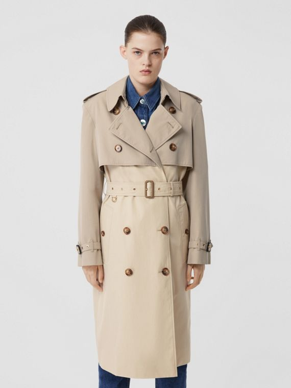 Two-tone Reconstructed Trench Coat in Light Sand