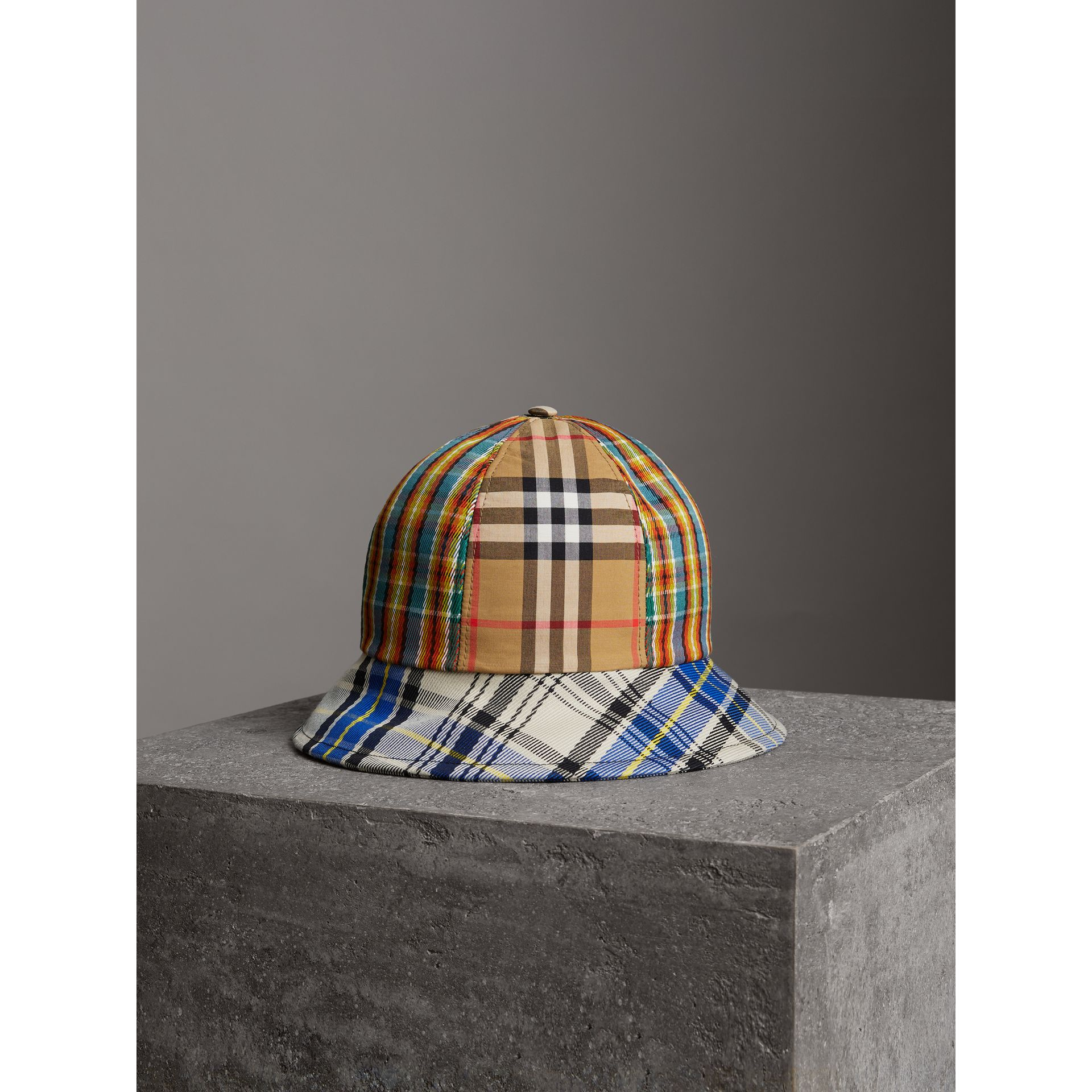 Vintage Check and Tartan Bucket Hat in Antique Yellow | Burberry Canada - gallery image 2