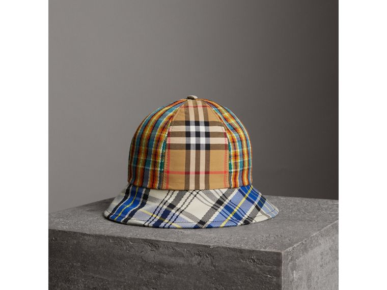 Vintage Check and Tartan Bucket Hat in Antique Yellow | Burberry - cell image 2