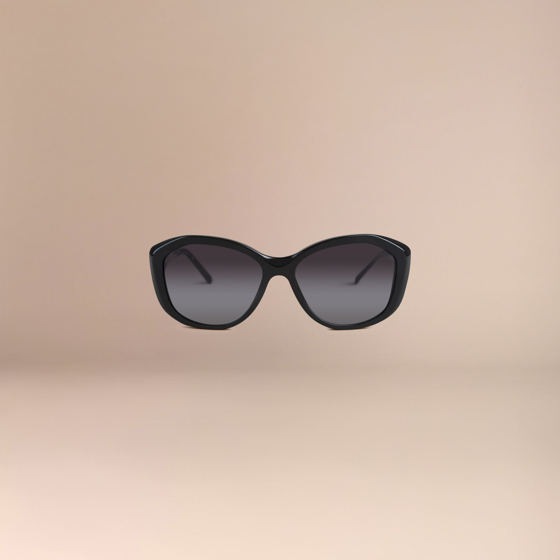Black Gabardine Collection Square Frame Sunglasses Black - gallery image 3