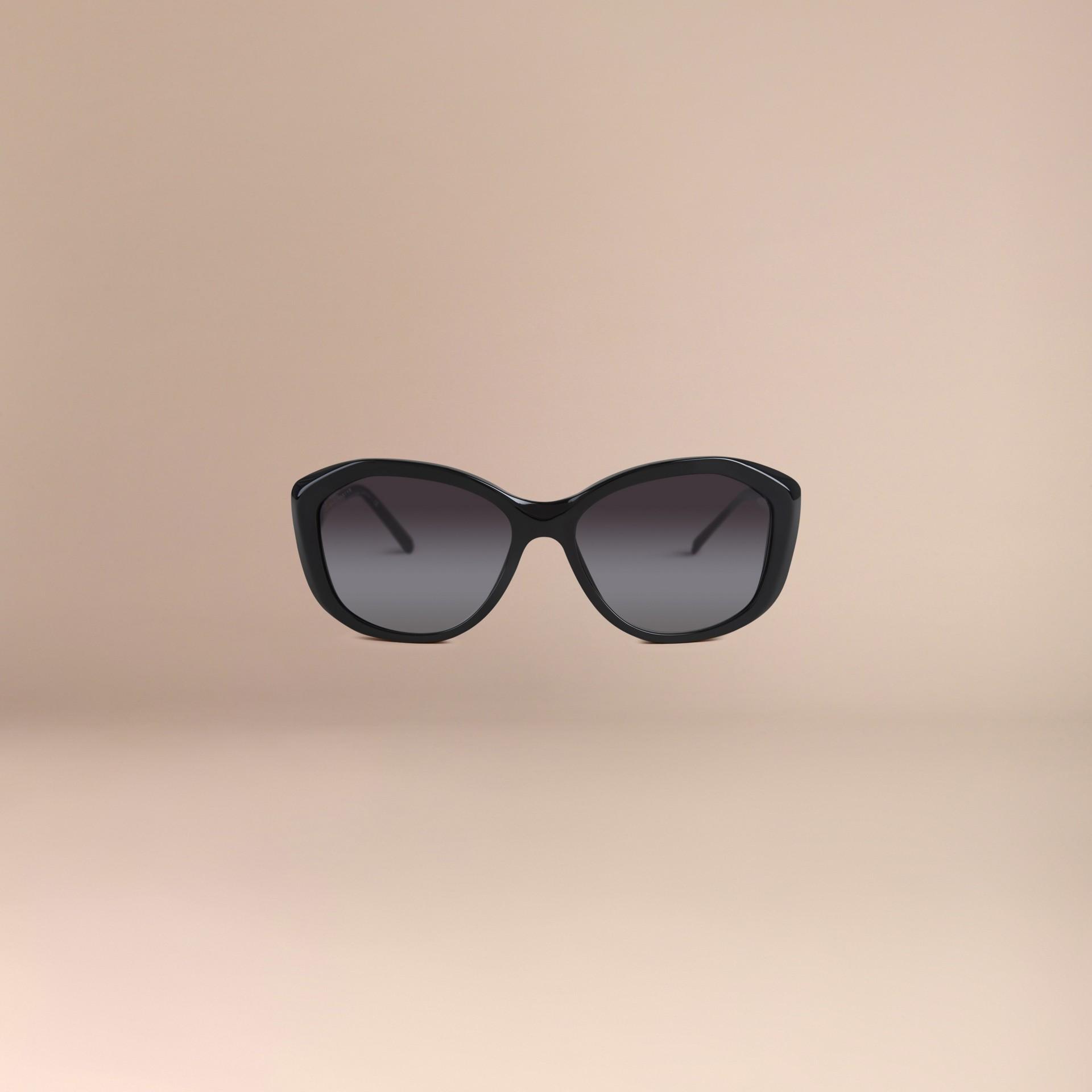 Nero Occhiali da sole con montatura quadrata collezione Gabardine Nero - immagine della galleria 3