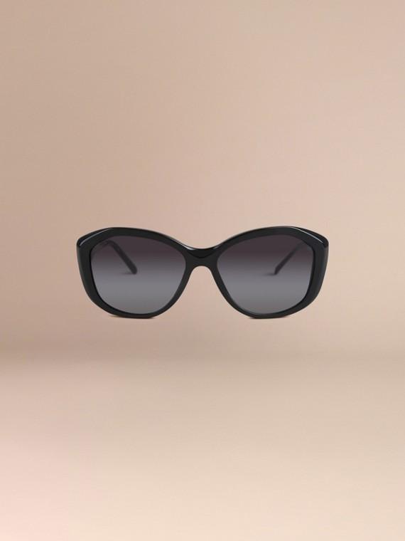 Nero Occhiali da sole con montatura quadrata collezione Gabardine Nero - cell image 2