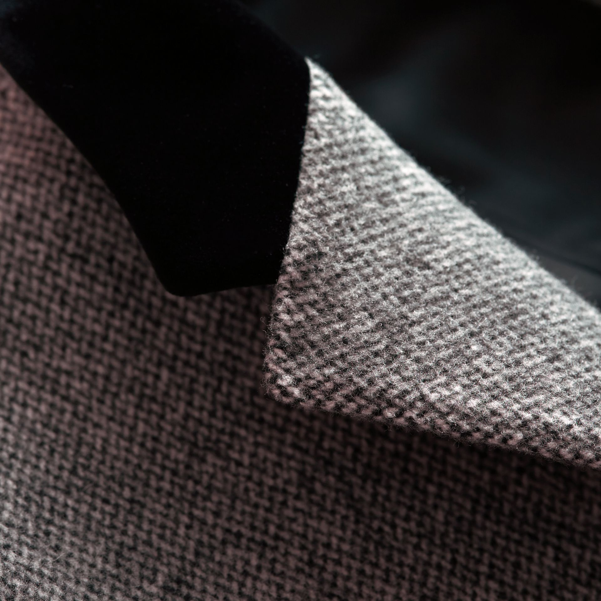 Velvet Collar Wool Tweed Topcoat - Men | Burberry Singapore - gallery image 2