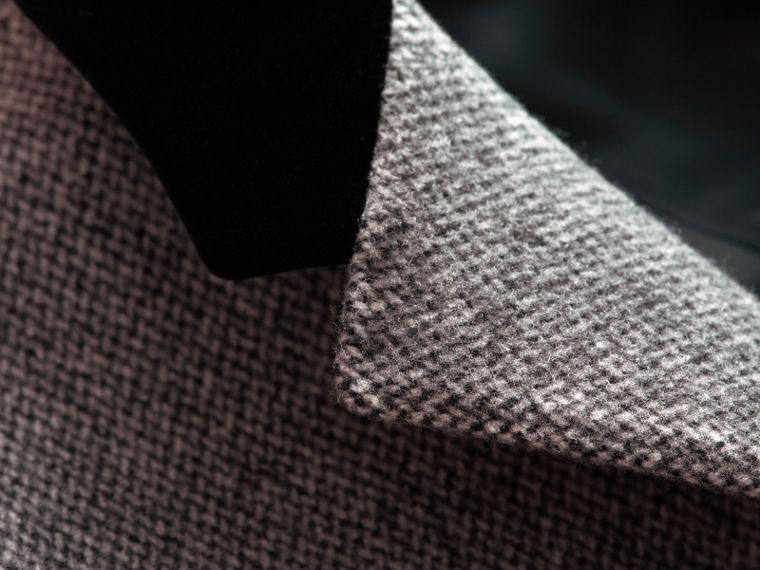 Velvet Collar Wool Tweed Topcoat - Men | Burberry Singapore - cell image 1