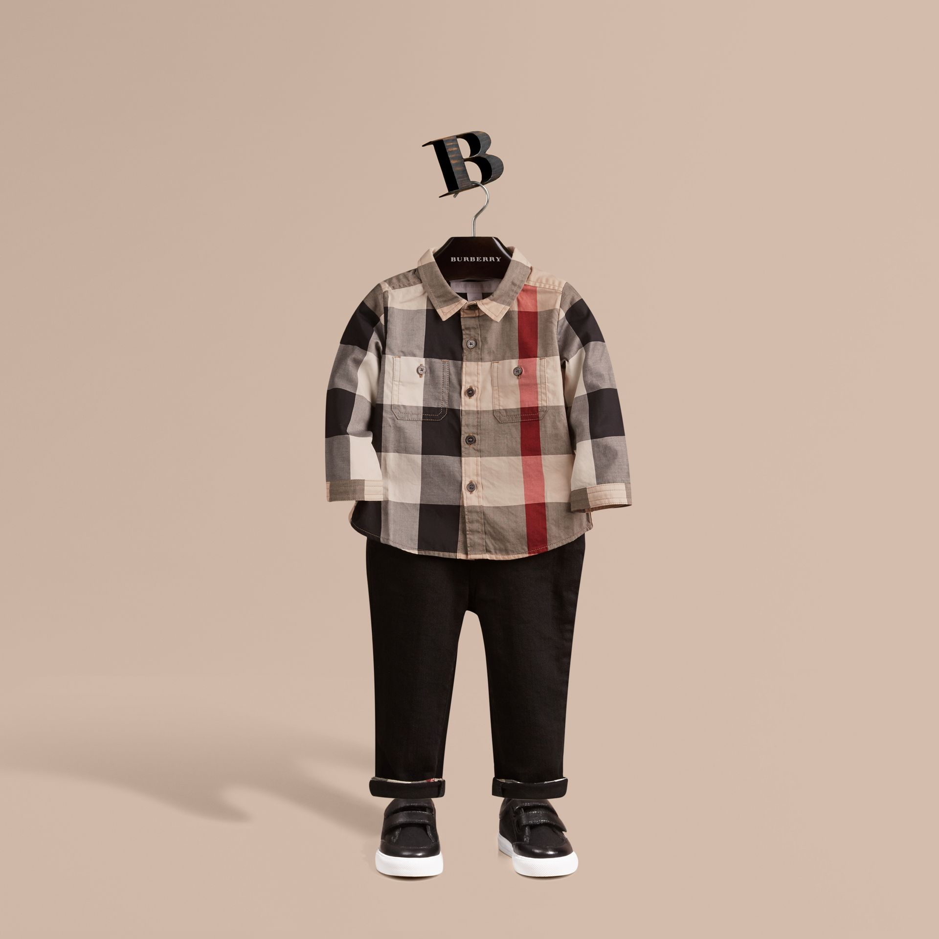 Check Cotton Shirt in New Classic - Boy | Burberry Canada - gallery image 1