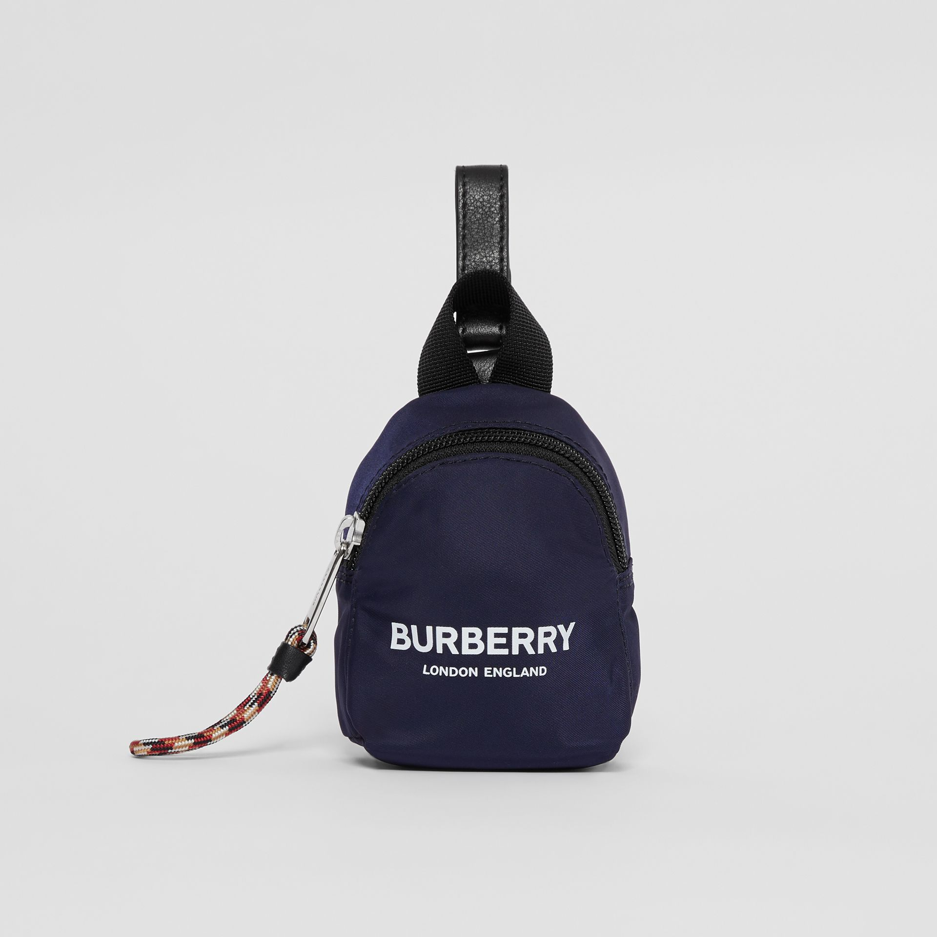 Logo Print Coin Case in Dark Navy - Children | Burberry - gallery image 0
