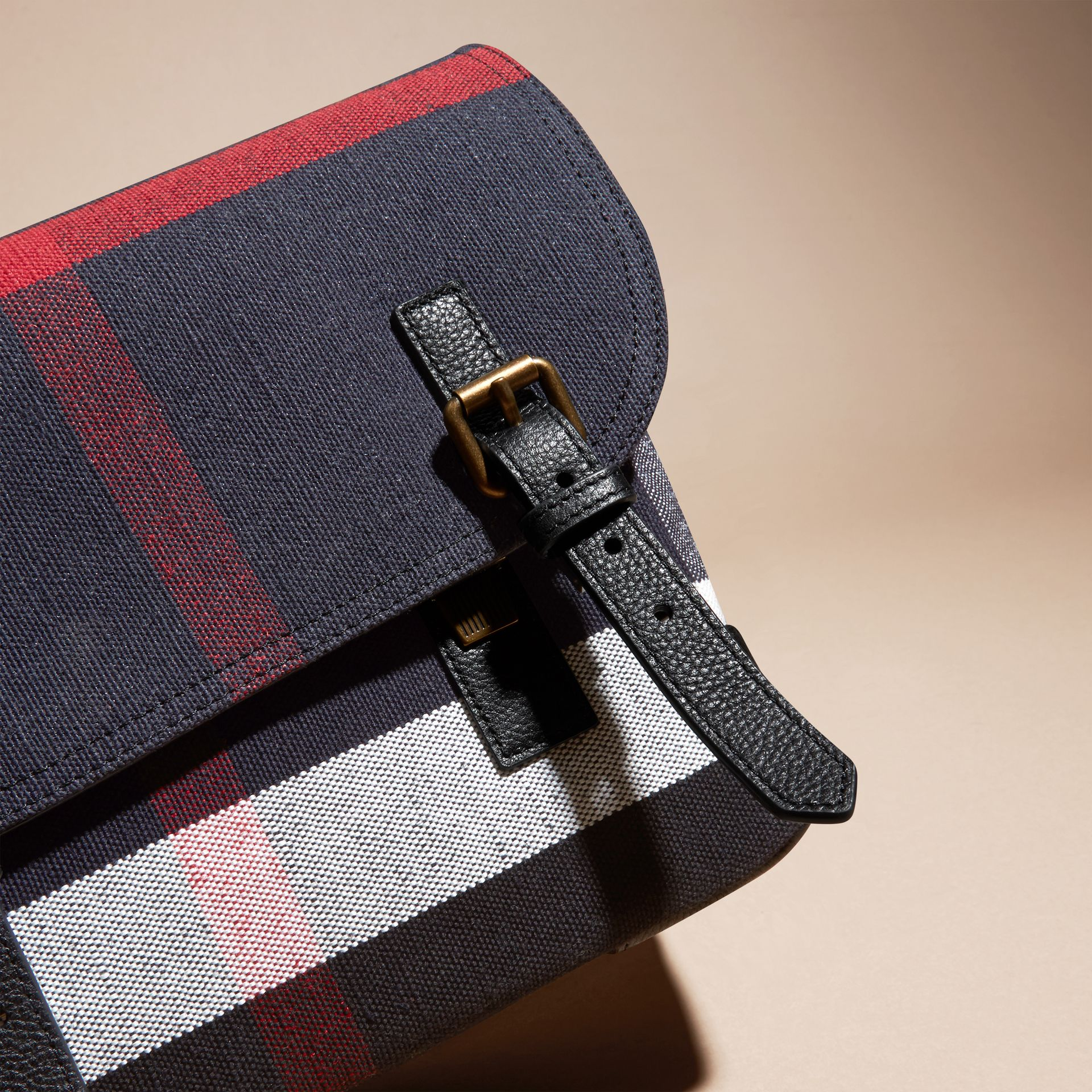 Small Canvas Check Messenger Bag - Men | Burberry - gallery image 2