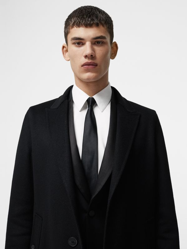 Cashmere Tailored Coat in Black - Men | Burberry - cell image 3