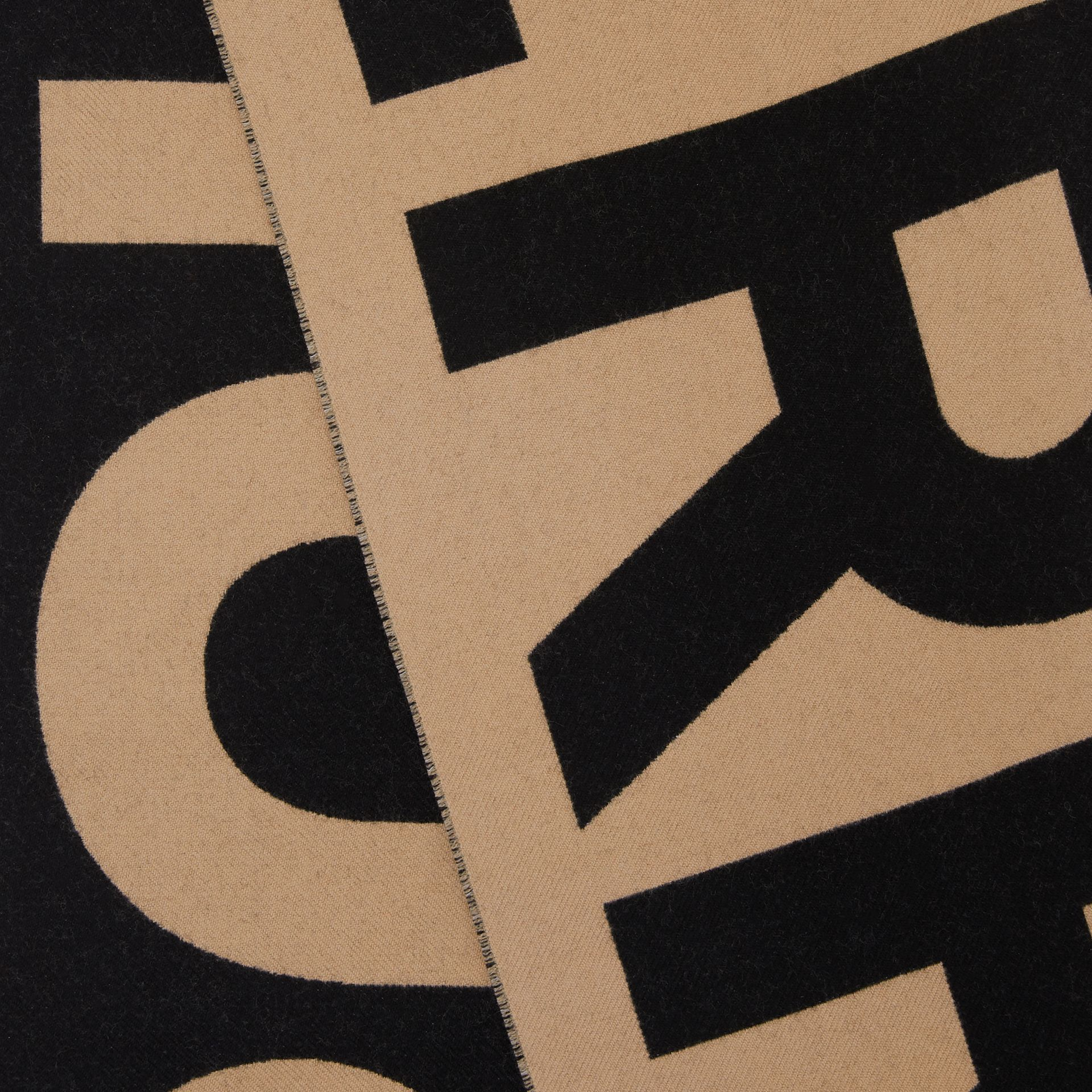 ロゴ ウール ジャカードスカーフ (アーカイブベージュ) | バーバリー - ギャラリーイメージ 1