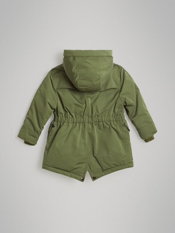 Detachable Hood Down-filled Parka Coat in Sage | Burberry Singapore - cell image 3