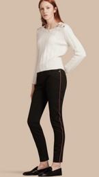 Jean skinny stretch avec passepoil