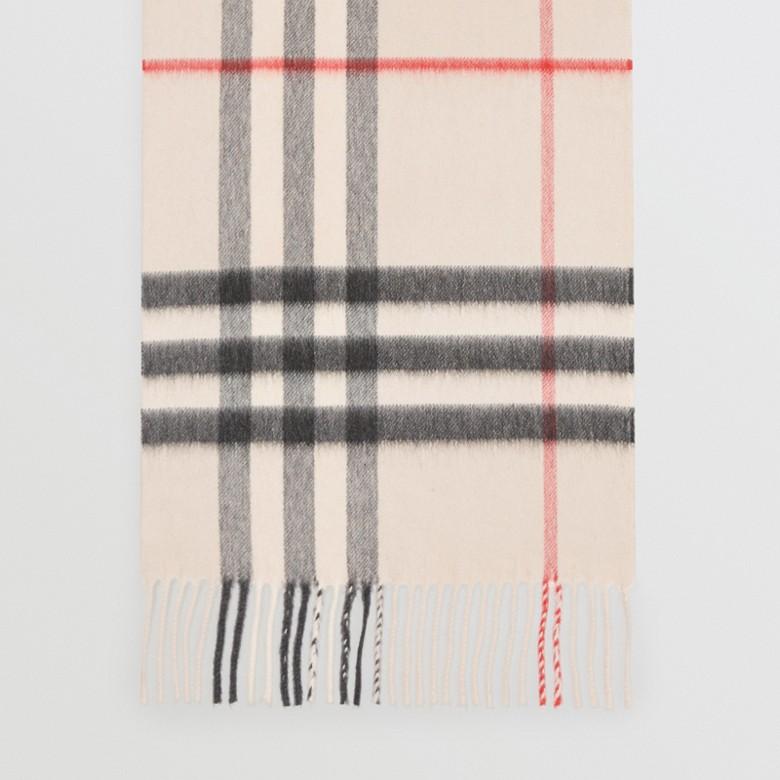 Burberry - Écharpe en cachemire à motif check classique - 5