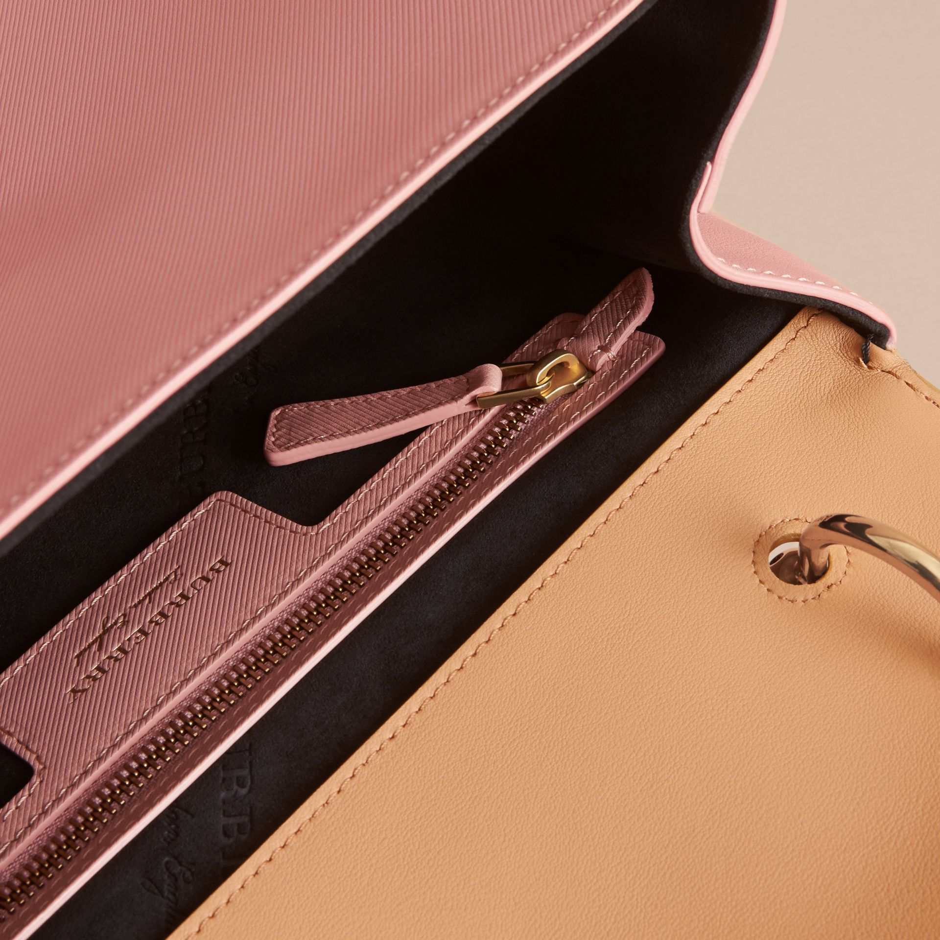 The Medium DK88 Top Handle Bag in Ash Rose/pale Clementine - Women | Burberry Australia - gallery image 4