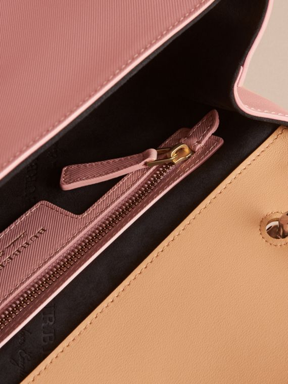 The Medium DK88 Top Handle Bag in Ash Rose/pale Clementine - Women | Burberry - cell image 3